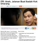 Dagelan Koplak dari FPI, ibadah kok dijalanraya?!?