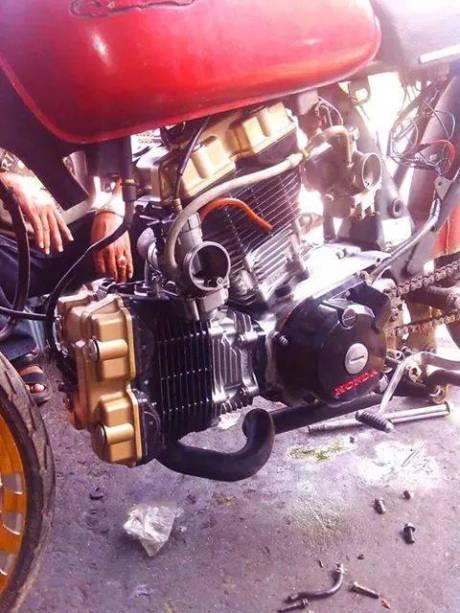 Honda CB mesin suzuki satria FU