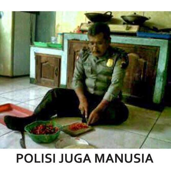 polisi juga manusia