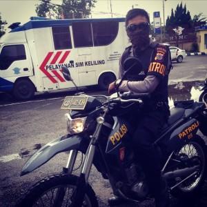 Profil Patroli Motor Polisi foto: personel patmor Polda DIY