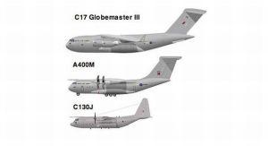 Perbandingan pesawat C-17, A400M dan C130 foto: defenceforumindia